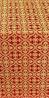 Elizabeth silk (rayon brocade) (red/gold)