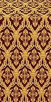 Korona silk (rayon brocade) (claret/gold)