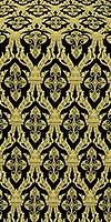 Korona silk (rayon brocade) (black/gold)