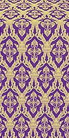 Korona silk (rayon brocade) (violet/gold)