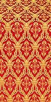 Korona silk (rayon brocade) (red/gold)
