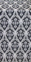 Korona silk (rayon brocade) (black/silver)