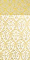 Korona silk (rayon brocade) (white/gold)