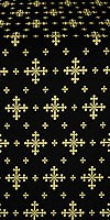 Belozersk metallic brocade (black/gold)