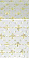 Belozersk metallic brocade (white/gold)