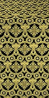 Czar's Cross silk (rayon brocade) (black/gold)