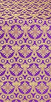 Czar's Cross silk (rayon brocade) (violet/gold)