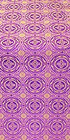 Corinth silk (rayon brocade) (violet/gold)