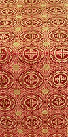 Corinth silk (rayon brocade) (red/gold)