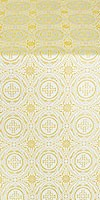 Corinth metallic brocade (white/gold)