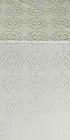 Corinth metallic brocade (white/silver)