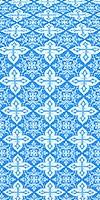 Vera metallic brocade (blue/silver)