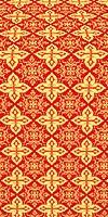 Vera metallic brocade (red/gold)