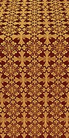 Cornflower metallic brocade (claret/gold)