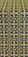 Cornflower metallic brocade (black/gold)