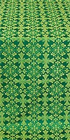 Cornflower metallic brocade (green/gold)