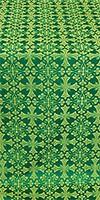 Cornflower metallic brocade (green/gold)