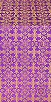 Cornflower silk (rayon brocade) (violet/gold)