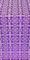 Cornflower silk (rayon brocade) (violet/silver)
