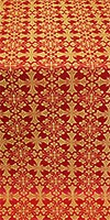 Cornflower silk (rayon brocade) (red/gold)