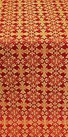 Cornflower metallic brocade (red/gold)