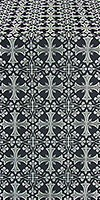 Cornflower silk (rayon brocade) (black/silver)