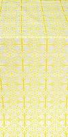 Cornflower silk (rayon brocade) (white/gold)