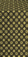 Mira Lycia silk (rayon brocade) (black/gold)
