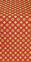 Mira Lycia silk (rayon brocade) (red/gold)