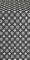 Mira Lycia silk (rayon brocade) (black/silver)