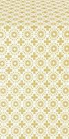 Mira Lycia silk (rayon brocade) (white/gold)