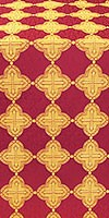 Kolomna metallic brocade (claret/gold)