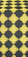 Kolomna metallic brocade (black/gold)