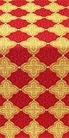 Kolomna metallic brocade (red/gold)