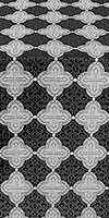 Kolomna metallic brocade (black/silver)