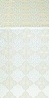 Kolomna metallic brocade (white/silver)