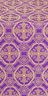 Paschal Egg metallic brocade (violet/gold)