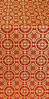 Posad silk (rayon brocade) (red/gold)