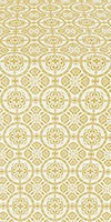 Posad silk (rayon brocade) (white/gold)