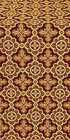 Old-Greek metallic brocade (claret/gold)