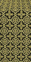 Old-Greek metallic brocade (black/gold)