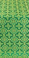 Old-Greek metallic brocade (green/gold)