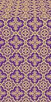 Old-Greek metallic brocade (violet/gold)