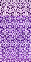 Old-Greek metallic brocade (violet/silver)