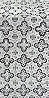 Old-Greek silk (rayon brocade) (black/silver)