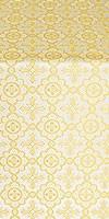 Old-Greek silk (rayon brocade) (white/gold)