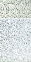Old-Greek silk (rayon brocade) (white/silver)