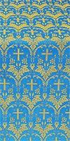 Vinograd silk (rayon brocade) (blue/gold)