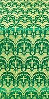 Vinograd silk (rayon brocade) (green/gold)
