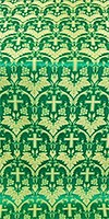 Vinograd metallic brocade (green/gold)